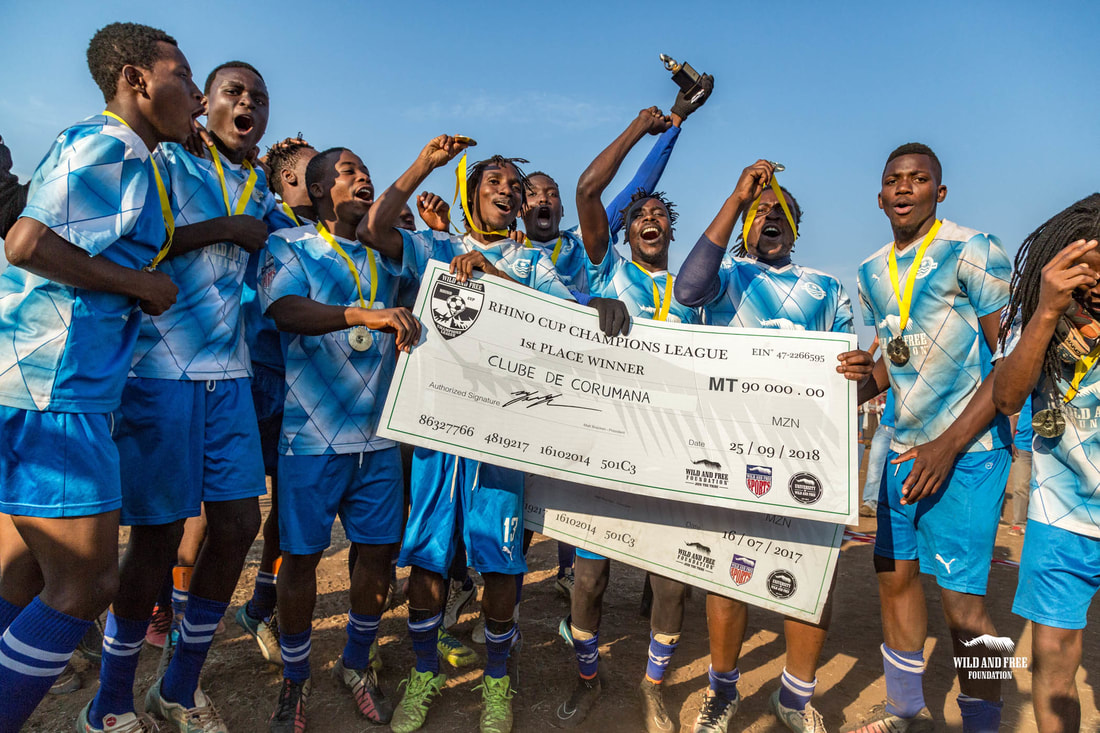 economic benefits from comunity upliftment through sports (soccer) is encouraged. This image was taken by Wild and Free Foundation